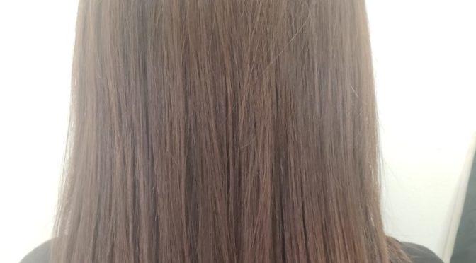 乾いた髪の毛がツルツルに!!