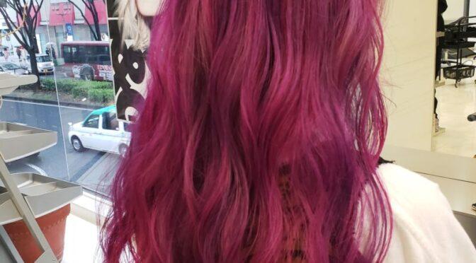 紫からピンクのグラデーションカラー☆ふ