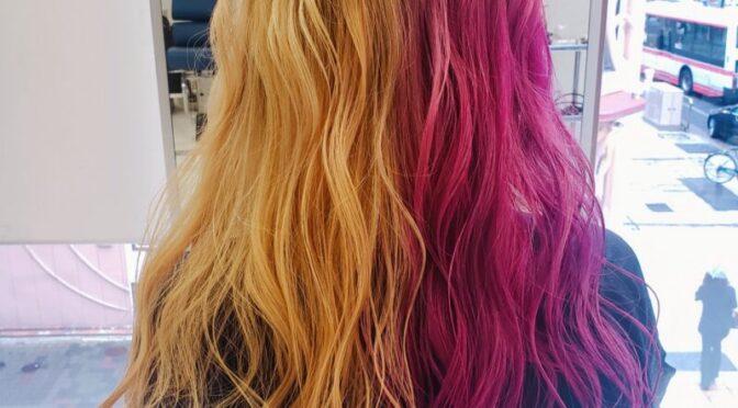 黄色とピンクでド派手カラー☆ミす